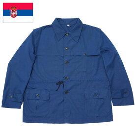 セルビア軍 ワークジャケット ネイビー USEDワークウエア メンズ アウター 作業着 軍物 実物 本物
