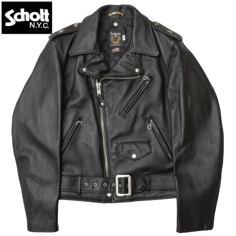Schott #7007 SCH-613US VINT ONESTAR ライダース レザージャケット ワンスター メンズ 09ブラック 34-44