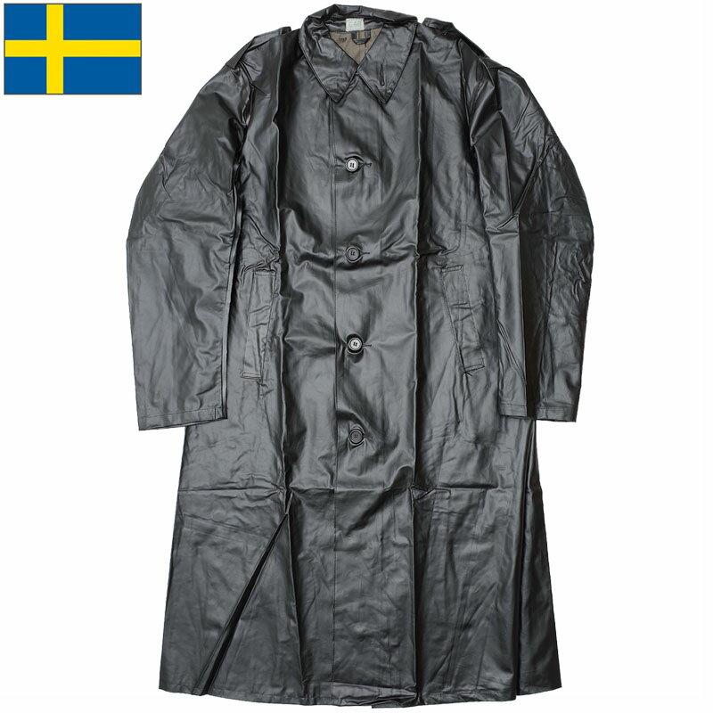 セール中 スウェーデン軍 ラバーヘビーレインコート デッドストック ミリタリーレインコート