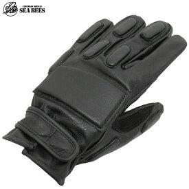 YMCLKYオリジナル SWATタイプ黒革手袋 フルフィンガー レザーグローブ GG001NN