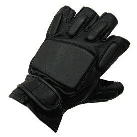 YMCLKYオリジナル SWATタイプ黒革手袋 フィンガレス レザーグローブ GF001NN【TKA】