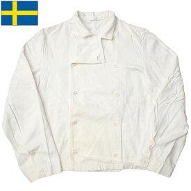 sale スウェーデン軍 コックジャケット ホワイト デッドストック
