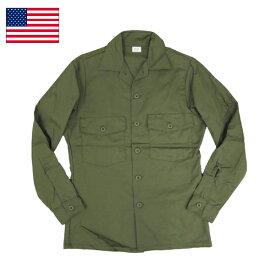 米軍 ファティーグシャツ ロングスリーブ ポリコットン 無地 デッドストック ミリタリーシャツ