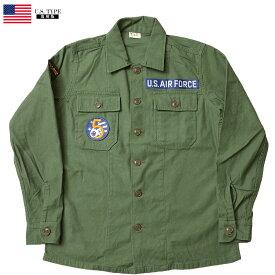 米軍タイプ OG-107 ファティーグシャツ 長袖 『AIR FORCE』A ミリタリーシャツ