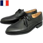 ノベルティープレゼントフランス軍レザーサービスシューズブラックBALLY製デッドストックFB063NNバリー実物ミリタリーパレードドレスシューズオフィサーレースアップ革靴本革外羽根式黒未使用品