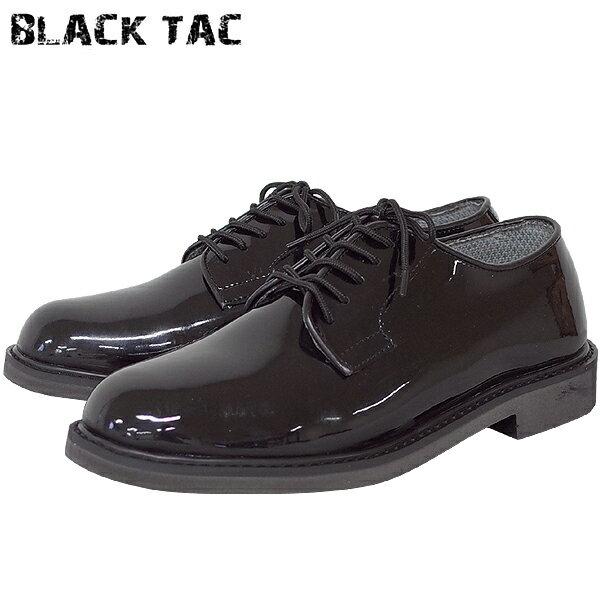ポイント10倍中 YMCLKYオリジナル BLACK TAC 米軍タイプ エナメル オフィサーシューズ 【ブラック】