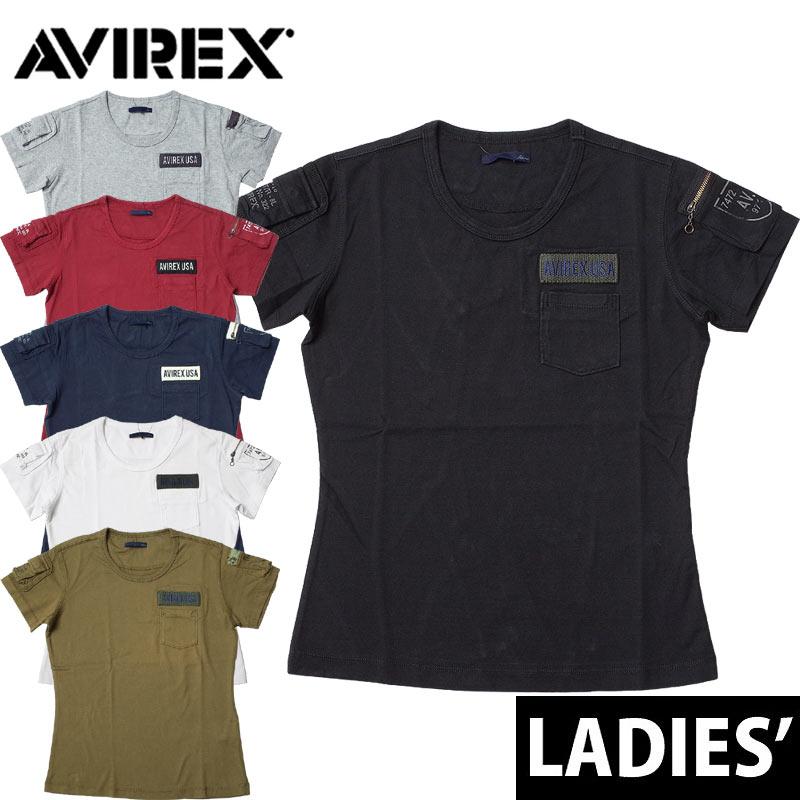 セール中 AVIREX レディース #6223026 半袖 ファティーグTシャツ レディース 全6色 S-L