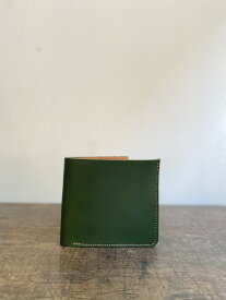 クラシック二つ折り財布 深緑