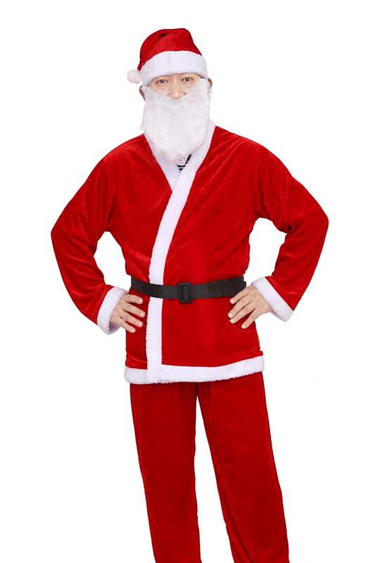 クリスマスサンタ 男性用衣装(手洗可)