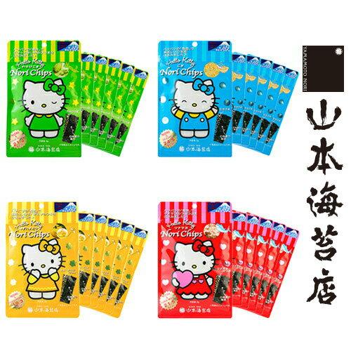 山本海苔店 Hello Kitty Nori Chips袋入×6袋【海苔 のり ちっぷす キティー キティちゃん キティコラボ おやつ こども 子供 日本橋 老舗】