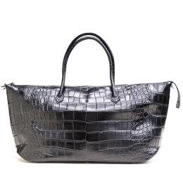 クロコダイル ボストン 山本製鞄 ポロサス メンズ 日本製 本革 ブラック