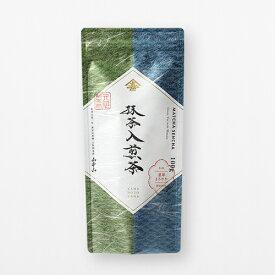 <山本山>抹茶入煎茶 100g MAS-R◆家庭用| お茶 茶葉 日本茶 煎茶 国産 緑茶 飲みやすい| 老舗 東京 日本橋 | ご自宅用 業務用
