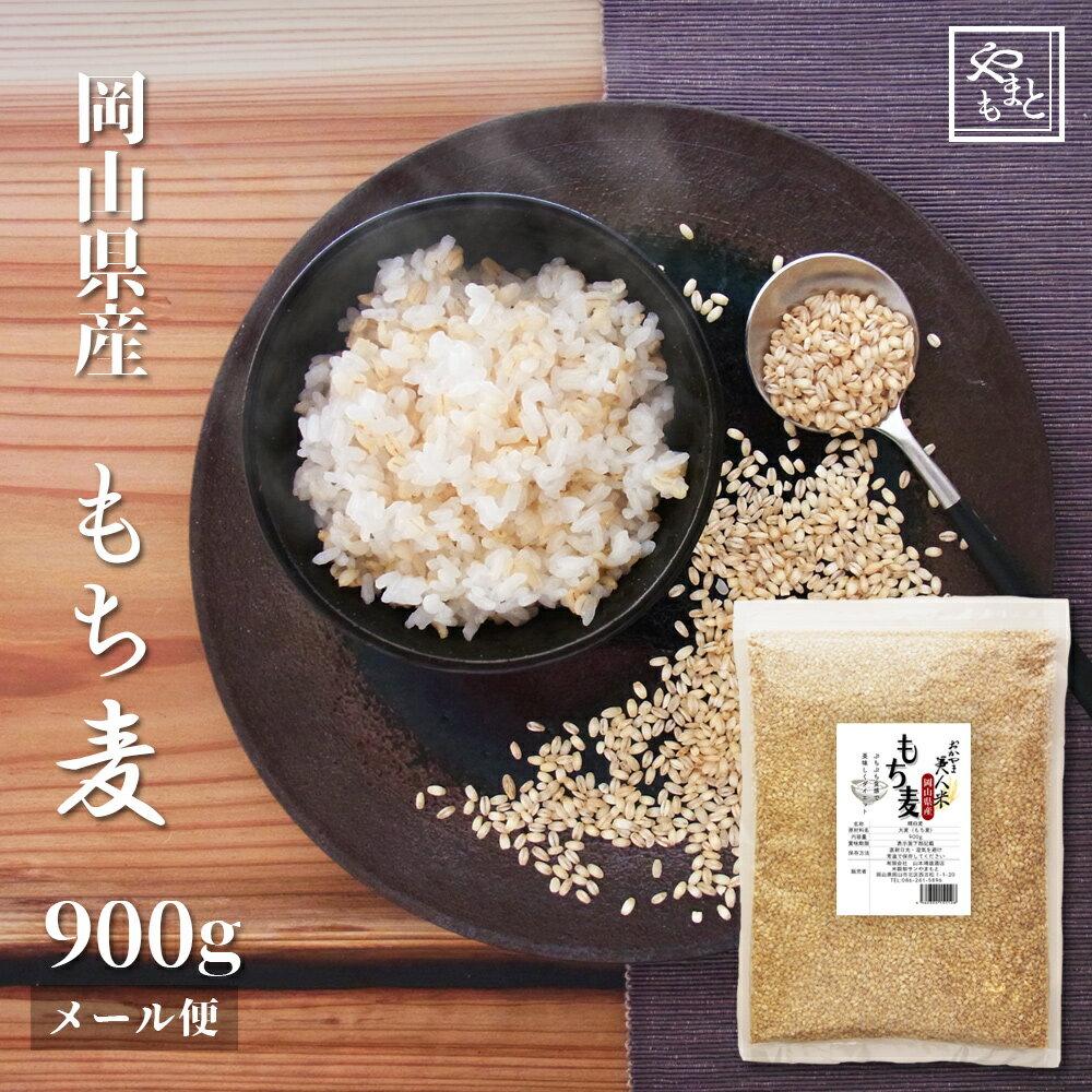 30年度 新麦 もち麦 安い お試し おすすめ ポイント消化 ぽっきり 岡山県産100%もち麦900g 国産 送料無料 ダイエット 1kg 以下
