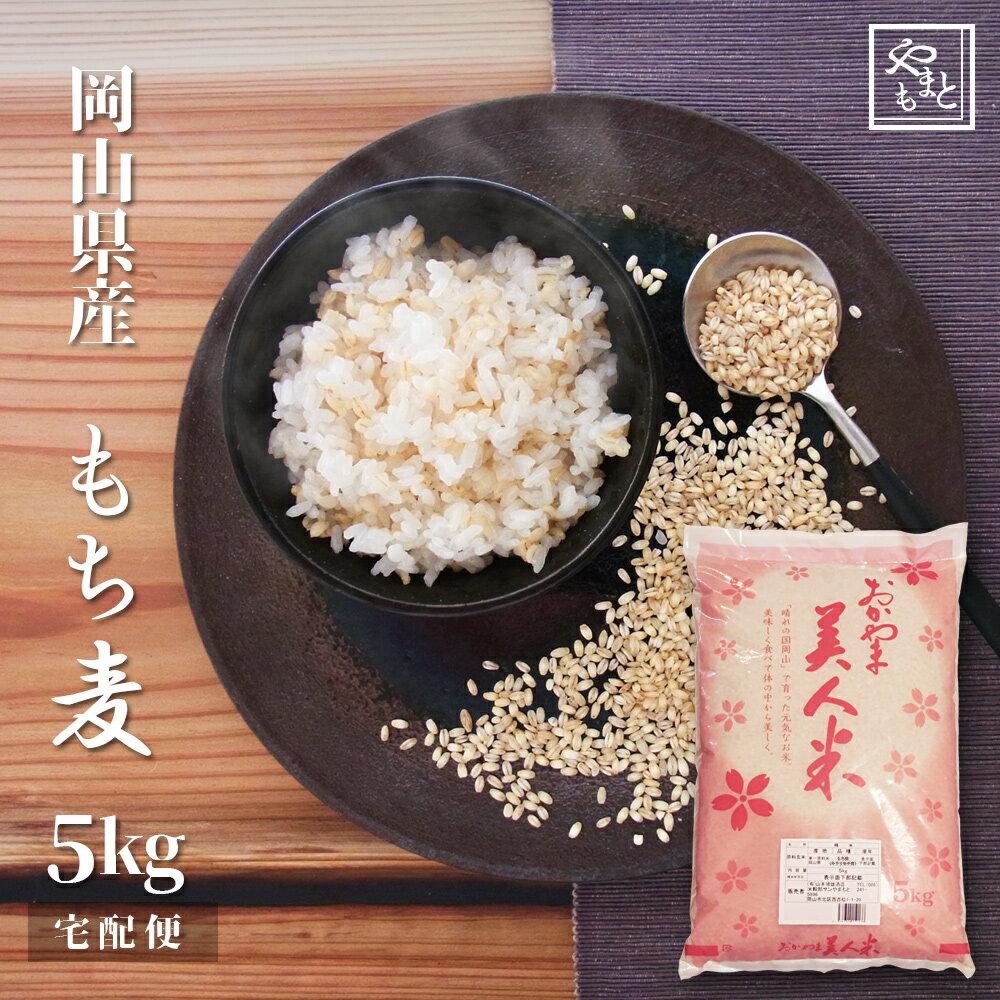 30年度岡山県産 もち麦(キラリモチ麦) 5kg 新麦 安い 訳あり お試し おすすめ ポイント消化 ぽっきり 国産 送料無料