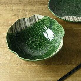 織部十草 24cm変形大鉢