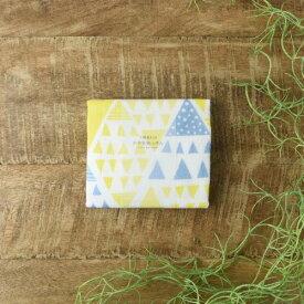 【メール便対応】7枚縫い合わせ かや生地ふきん フラッグ ブルー
