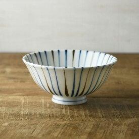 二色十草 ブルー 14.5cm茶碗
