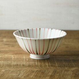 二色十草 レッド 14.5cm茶碗