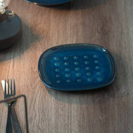 北欧ブルー 深ブルー crust トーストプレート(パン皿)[H7]