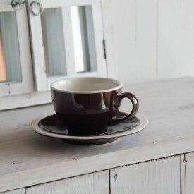 Mokkmokk(もっくもっく) コーヒーカップ&ソーサー ブラウン