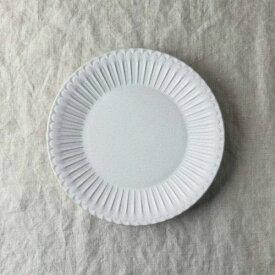 シュシュ・グレース 20cm皿 ラスティックホワイト