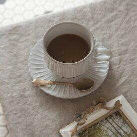 シュシュ・グレース スタックコーヒーカップ&ソーサー ラスティックホワイト