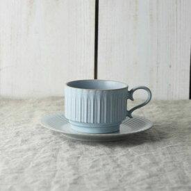 シュシュ・グレース スタックコーヒーカップ&ソーサー シャビーブルー