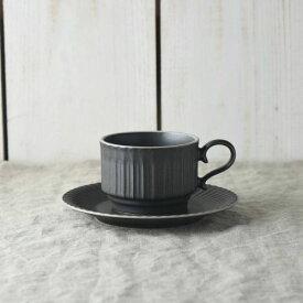 シュシュ・グレース スタックコーヒーカップ&ソーサー クリスタルブラック