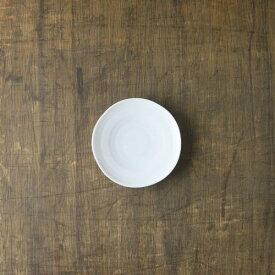 小田陶器 櫛目(kushime) 11cm小皿 白