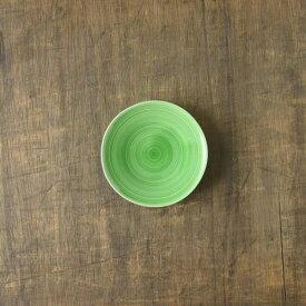 小田陶器 櫛目(kushime) 11cm小皿 緑釉