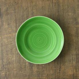 小田陶器 櫛目(kushime) 19cm中皿 緑釉