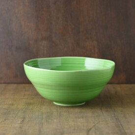 小田陶器 櫛目(kushime) 20cm大鉢 緑釉