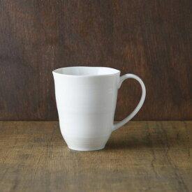 小田陶器 櫛目(kushime) 8.5cmマグカップ 白