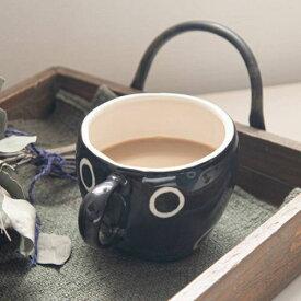 まったりぽかぽかマグカップ ブラック[H1585]