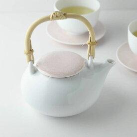 深山(miyama.) casane te-かさね茶器- 土瓶 小桜柄・桃釉[茶こしは付属していません]