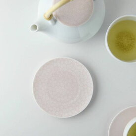 深山(miyama.) casane te-かさね茶器- 茶たく(小皿) 小桜柄・桃釉