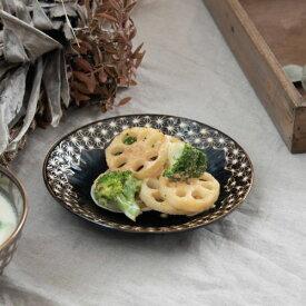 【うすかる】麻柄つなぎ 16.8cm取り皿 ブラウン 軽量食器