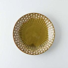 【うすかる】麻柄つなぎ 16.8cm取り皿 アンバー 軽量食器