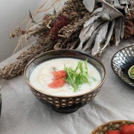 【うすかる】麻柄つなぎ 14.7cm小丼 ブラウン 軽量食器