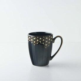 【うすかる】麻柄つなぎ 10.5cmマグカップ ブラウン 軽量食器