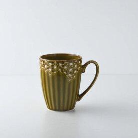 【うすかる】麻柄つなぎ 10.5cmマグカップ アンバー 軽量食器