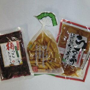 宮崎のお漬物3種  ごぼうの醤油漬け  うまか醤油たくあん   梅っこきゅうり1袋づつ【千円ポッキリ】【送料無料】