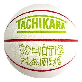 TACHIKARA BASKETBALL SP21 WHITE HANDS -DISTRICT-WHITE SB7-249 White / Red / Lime Green タチカラ バスケットボール 7号 ホワイトハンズ ホワイト