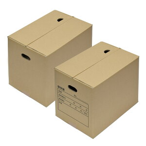 フタがパカッと開いてこないダンボール ふたダン 書類保存箱 10個セット W347mm×D251mm×H309mm《A4 角2封筒 書類 文書 ペットボトル 災害 備蓄 保存 テープ不要》