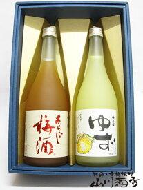 あらごし梅酒 + 梅乃宿ゆず酒 720mlセット【 1957 】【 梅酒 】【 ホワイトデー 贈り物 ギフト プレゼント 】