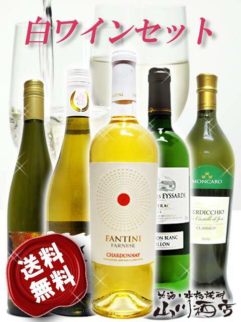 【送料無料】【白ワイン】厳選白ワイン5本セット(750ml×5) 【4164】【バレンタインデー】