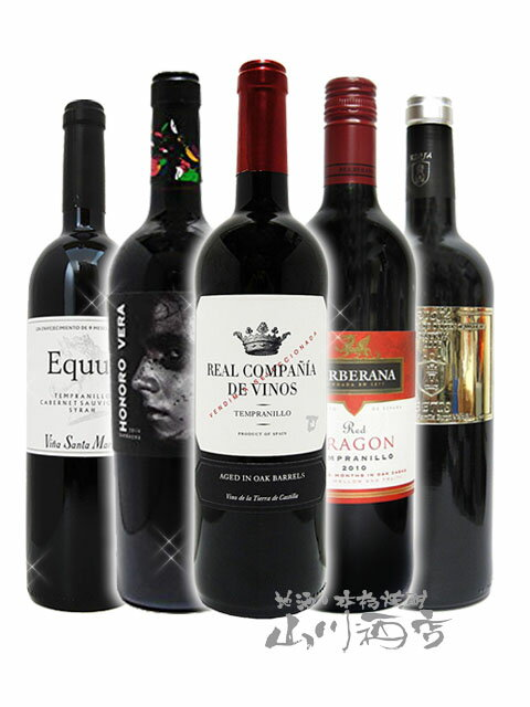 【 送料無料 】【 スペイン 赤ワイン 】厳選スペイン赤ワイン5本セット ( 750ml×5 ) 【 4163 】【 母の日 父の日 お花見 退職祝 贈り物 ギフト プレゼント 】