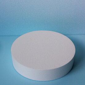 発泡スチロール円柱 直径400mm×厚さ50mm 6枚 普通硬さ