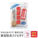 やわらかタイプ 発芽玄米 新潟コシヒカリ(1kg×2)2kg【05】
