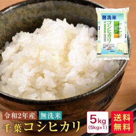 米 5kg 送料無料 無洗米 令和2年産 千葉コシヒカリ5kg【40】
